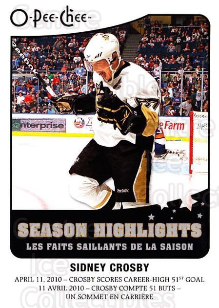 2010-11 O-Pee-Chee Season Highlights #10 Sidney Crosby<br/>1 In Stock - $5.00 each - <a href=https://centericecollectibles.foxycart.com/cart?name=2010-11%20O-Pee-Chee%20Season%20Highlights%20%2310%20Sidney%20Crosby...&quantity_max=1&price=$5.00&code=584142 class=foxycart> Buy it now! </a>