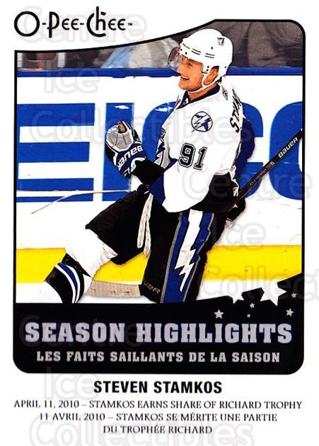 2010-11 O-Pee-Chee Season Highlights #14 Steven Stamkos<br/>1 In Stock - $2.00 each - <a href=https://centericecollectibles.foxycart.com/cart?name=2010-11%20O-Pee-Chee%20Season%20Highlights%20%2314%20Steven%20Stamkos...&price=$2.00&code=584146 class=foxycart> Buy it now! </a>