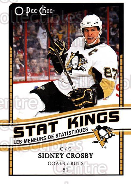 2010-11 O-Pee-Chee Stat Kings #1 Sidney Crosby<br/>2 In Stock - $5.00 each - <a href=https://centericecollectibles.foxycart.com/cart?name=2010-11%20O-Pee-Chee%20Stat%20Kings%20%231%20Sidney%20Crosby...&quantity_max=2&price=$5.00&code=584148 class=foxycart> Buy it now! </a>