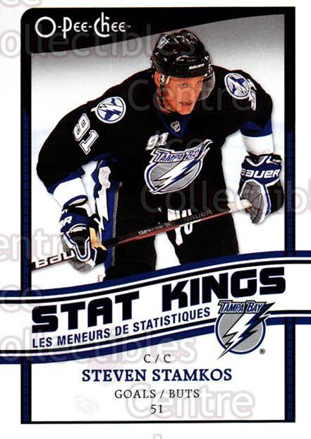 2010-11 O-Pee-Chee Stat Kings #2 Steven Stamkos<br/>2 In Stock - $2.00 each - <a href=https://centericecollectibles.foxycart.com/cart?name=2010-11%20O-Pee-Chee%20Stat%20Kings%20%232%20Steven%20Stamkos...&price=$2.00&code=584149 class=foxycart> Buy it now! </a>