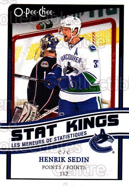 2010-11 O-Pee-Chee Stat Kings #4 Henrik Sedin<br/>1 In Stock - $2.00 each - <a href=https://centericecollectibles.foxycart.com/cart?name=2010-11%20O-Pee-Chee%20Stat%20Kings%20%234%20Henrik%20Sedin...&quantity_max=1&price=$2.00&code=584151 class=foxycart> Buy it now! </a>