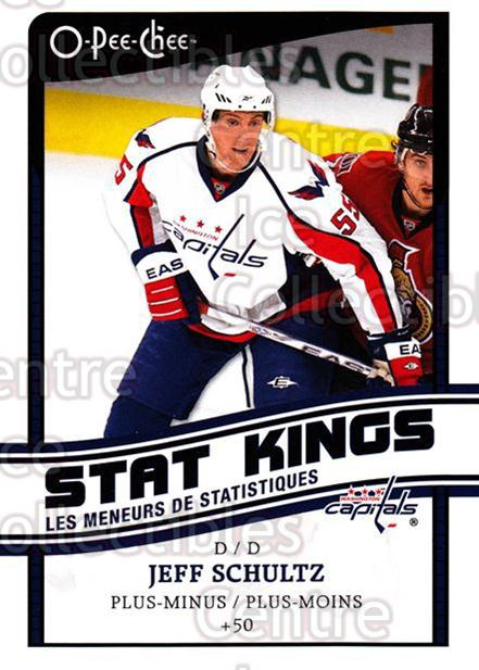2010-11 O-Pee-Chee Stat Kings #12 Jeff Schultz<br/>2 In Stock - $2.00 each - <a href=https://centericecollectibles.foxycart.com/cart?name=2010-11%20O-Pee-Chee%20Stat%20Kings%20%2312%20Jeff%20Schultz...&quantity_max=2&price=$2.00&code=584159 class=foxycart> Buy it now! </a>