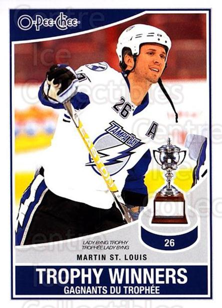 2010-11 O-Pee-Chee Trophy Winners #8 Martin St. Louis<br/>4 In Stock - $2.00 each - <a href=https://centericecollectibles.foxycart.com/cart?name=2010-11%20O-Pee-Chee%20Trophy%20Winners%20%238%20Martin%20St.%20Loui...&quantity_max=4&price=$2.00&code=584175 class=foxycart> Buy it now! </a>