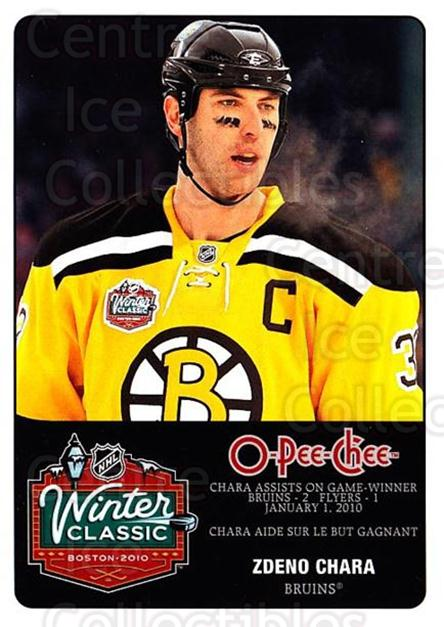2010-11 O-Pee-Chee Winter Classic #11 Zdeno Chara<br/>1 In Stock - $3.00 each - <a href=https://centericecollectibles.foxycart.com/cart?name=2010-11%20O-Pee-Chee%20Winter%20Classic%20%2311%20Zdeno%20Chara...&quantity_max=1&price=$3.00&code=584191 class=foxycart> Buy it now! </a>