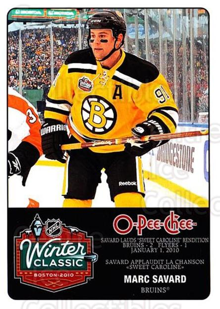 2010-11 O-Pee-Chee Winter Classic #13 Marc Savard<br/>1 In Stock - $3.00 each - <a href=https://centericecollectibles.foxycart.com/cart?name=2010-11%20O-Pee-Chee%20Winter%20Classic%20%2313%20Marc%20Savard...&quantity_max=1&price=$3.00&code=584193 class=foxycart> Buy it now! </a>