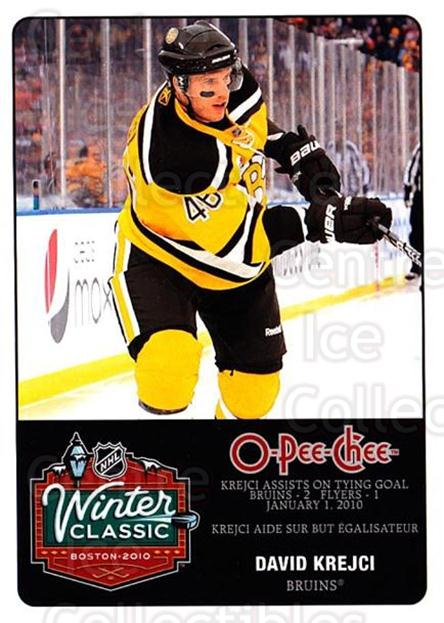 2010-11 O-Pee-Chee Winter Classic #14 David Krejci<br/>1 In Stock - $3.00 each - <a href=https://centericecollectibles.foxycart.com/cart?name=2010-11%20O-Pee-Chee%20Winter%20Classic%20%2314%20David%20Krejci...&quantity_max=1&price=$3.00&code=584194 class=foxycart> Buy it now! </a>