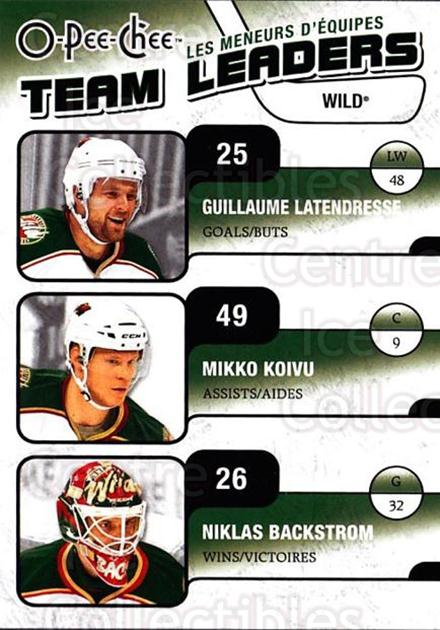 2010-11 O-Pee-Chee Team Leaders #15 Guillaume Latendresse, Niklas Backstrom, Mikko Koivu<br/>3 In Stock - $2.00 each - <a href=https://centericecollectibles.foxycart.com/cart?name=2010-11%20O-Pee-Chee%20Team%20Leaders%20%2315%20Guillaume%20Laten...&quantity_max=3&price=$2.00&code=584211 class=foxycart> Buy it now! </a>