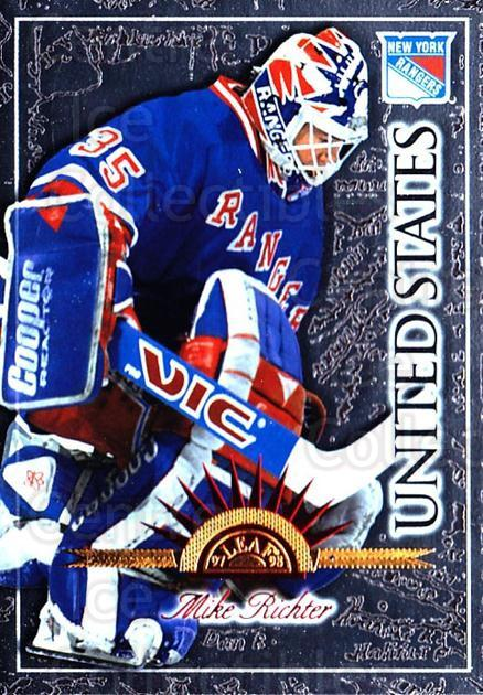 1997-98 Leaf International #70 Mike Richter<br/>2 In Stock - $1.00 each - <a href=https://centericecollectibles.foxycart.com/cart?name=1997-98%20Leaf%20International%20%2370%20Mike%20Richter...&quantity_max=2&price=$1.00&code=58430 class=foxycart> Buy it now! </a>