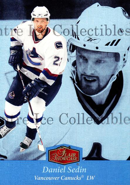 2007-08 Ultra Flair Showcase #12 Daniel Sedin<br/>1 In Stock - $3.00 each - <a href=https://centericecollectibles.foxycart.com/cart?name=2007-08%20Ultra%20Flair%20Showcase%20%2312%20Daniel%20Sedin...&price=$3.00&code=584310 class=foxycart> Buy it now! </a>