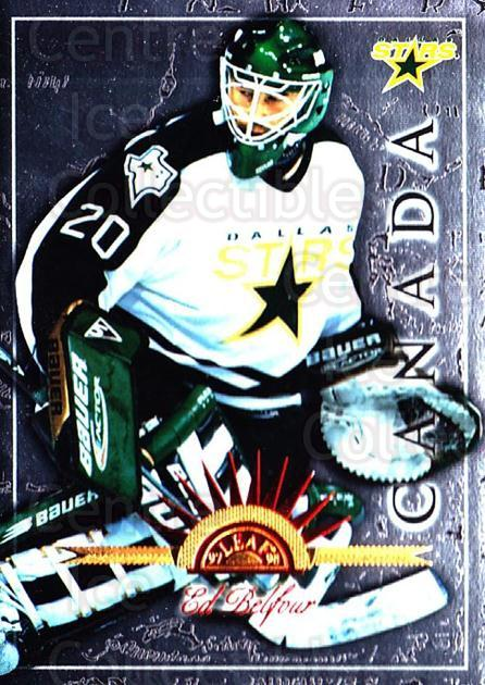 1997-98 Leaf International #87 Ed Belfour<br/>6 In Stock - $1.00 each - <a href=https://centericecollectibles.foxycart.com/cart?name=1997-98%20Leaf%20International%20%2387%20Ed%20Belfour...&price=$1.00&code=58447 class=foxycart> Buy it now! </a>
