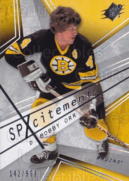 2008-09 SPx SPxcitement #6 Bobby Orr<br/>1 In Stock - $10.00 each - <a href=https://centericecollectibles.foxycart.com/cart?name=2008-09%20SPx%20SPxcitement%20%236%20Bobby%20Orr...&quantity_max=1&price=$10.00&code=584561 class=foxycart> Buy it now! </a>