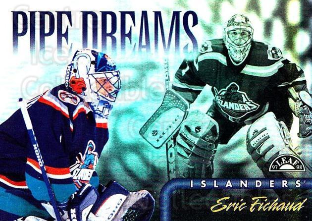 1997-98 Leaf Pipe Dreams #15 Eric Fichaud<br/>2 In Stock - $5.00 each - <a href=https://centericecollectibles.foxycart.com/cart?name=1997-98%20Leaf%20Pipe%20Dreams%20%2315%20Eric%20Fichaud...&quantity_max=2&price=$5.00&code=58466 class=foxycart> Buy it now! </a>