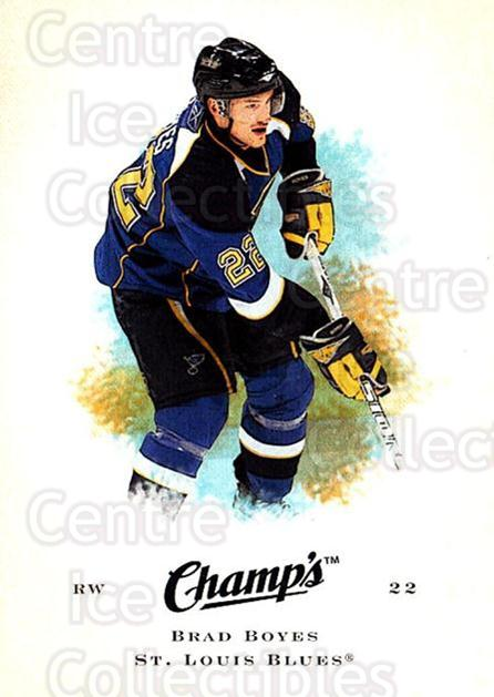 2008-09 Upper Deck Champs #9 Brad Boyes<br/>4 In Stock - $1.00 each - <a href=https://centericecollectibles.foxycart.com/cart?name=2008-09%20Upper%20Deck%20Champs%20%239%20Brad%20Boyes...&quantity_max=4&price=$1.00&code=584718 class=foxycart> Buy it now! </a>