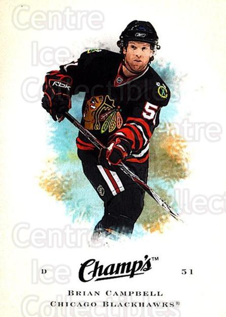 2008-09 Upper Deck Champs #12 Brian Campbell<br/>3 In Stock - $1.00 each - <a href=https://centericecollectibles.foxycart.com/cart?name=2008-09%20Upper%20Deck%20Champs%20%2312%20Brian%20Campbell...&quantity_max=3&price=$1.00&code=584721 class=foxycart> Buy it now! </a>