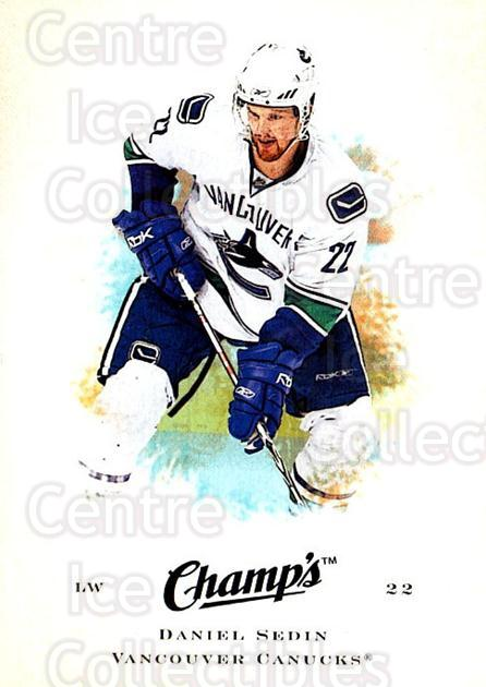 2008-09 Upper Deck Champs #24 Daniel Sedin<br/>2 In Stock - $1.00 each - <a href=https://centericecollectibles.foxycart.com/cart?name=2008-09%20Upper%20Deck%20Champs%20%2324%20Daniel%20Sedin...&price=$1.00&code=584733 class=foxycart> Buy it now! </a>