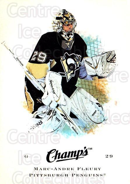 2008-09 Upper Deck Champs #50 Marc-Andre Fleury<br/>1 In Stock - $2.00 each - <a href=https://centericecollectibles.foxycart.com/cart?name=2008-09%20Upper%20Deck%20Champs%20%2350%20Marc-Andre%20Fleu...&quantity_max=1&price=$2.00&code=584759 class=foxycart> Buy it now! </a>