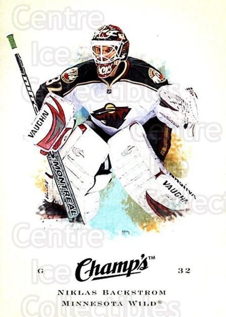 2008-09 Upper Deck Champs #67 Niklas Backstrom<br/>2 In Stock - $1.00 each - <a href=https://centericecollectibles.foxycart.com/cart?name=2008-09%20Upper%20Deck%20Champs%20%2367%20Niklas%20Backstro...&quantity_max=2&price=$1.00&code=584776 class=foxycart> Buy it now! </a>