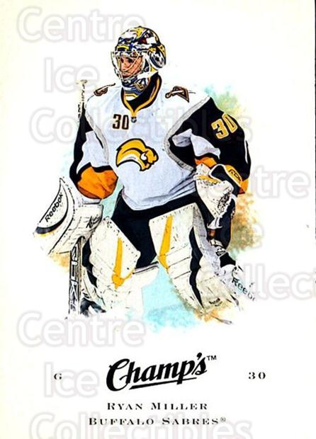 2008-09 Upper Deck Champs #86 Ryan Miller<br/>2 In Stock - $1.00 each - <a href=https://centericecollectibles.foxycart.com/cart?name=2008-09%20Upper%20Deck%20Champs%20%2386%20Ryan%20Miller...&quantity_max=2&price=$1.00&code=584795 class=foxycart> Buy it now! </a>