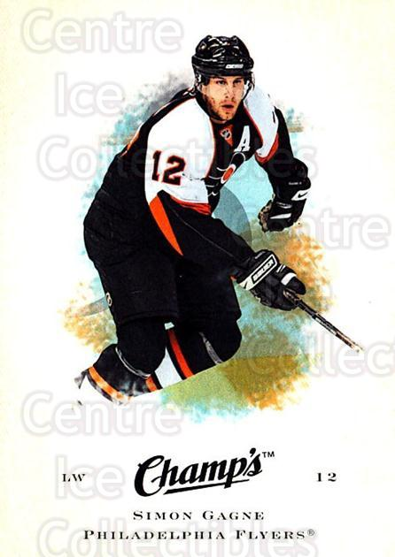 2008-09 Upper Deck Champs #92 Simon Gagne<br/>5 In Stock - $1.00 each - <a href=https://centericecollectibles.foxycart.com/cart?name=2008-09%20Upper%20Deck%20Champs%20%2392%20Simon%20Gagne...&quantity_max=5&price=$1.00&code=584801 class=foxycart> Buy it now! </a>