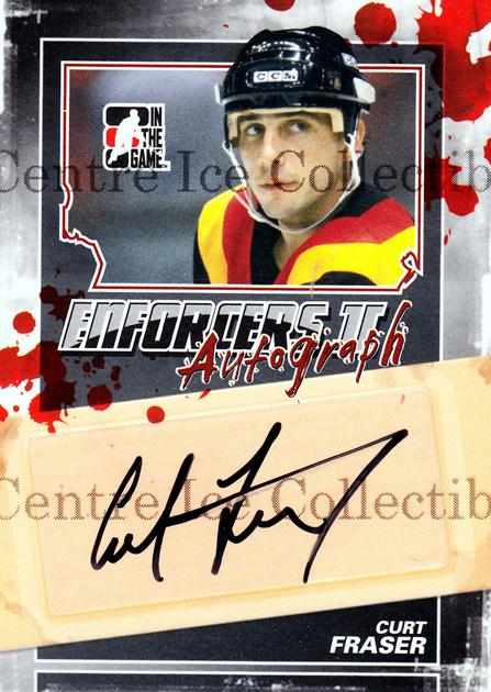 2013-14 ITG Enforcers Auto #ACF Curt Fraser<br/>24 In Stock - $5.00 each - <a href=https://centericecollectibles.foxycart.com/cart?name=2013-14%20ITG%20Enforcers%20Auto%20%23ACF%20Curt%20Fraser...&quantity_max=24&price=$5.00&code=585402 class=foxycart> Buy it now! </a>