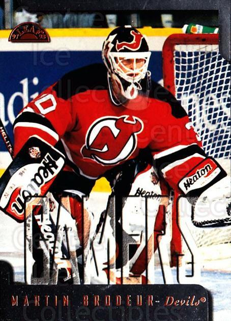 1997-98 Leaf #174 Martin Brodeur<br/>1 In Stock - $3.00 each - <a href=https://centericecollectibles.foxycart.com/cart?name=1997-98%20Leaf%20%23174%20Martin%20Brodeur...&quantity_max=1&price=$3.00&code=58543 class=foxycart> Buy it now! </a>