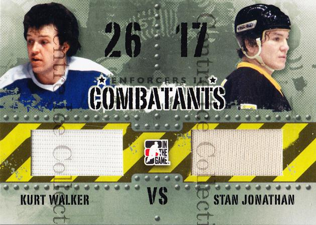 2013-14 ITG Enforcers Combatants Jersey #22 Kurt Walker, Stan Jonathan<br/>8 In Stock - $5.00 each - <a href=https://centericecollectibles.foxycart.com/cart?name=2013-14%20ITG%20Enforcers%20Combatants%20Jersey%20%2322%20Kurt%20Walker,%20St...&quantity_max=8&price=$5.00&code=585474 class=foxycart> Buy it now! </a>