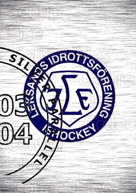 2003-04 Swedish Elitset Silver #138 Leksands, Checklist<br/>1 In Stock - $3.00 each - <a href=https://centericecollectibles.foxycart.com/cart?name=2003-04%20Swedish%20Elitset%20Silver%20%23138%20Leksands,%20Check...&quantity_max=1&price=$3.00&code=585638 class=foxycart> Buy it now! </a>