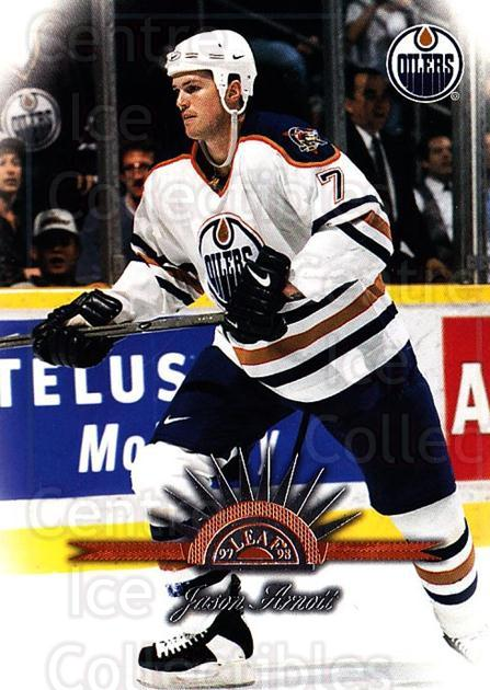 1997-98 Leaf #61 Jason Arnott<br/>4 In Stock - $1.00 each - <a href=https://centericecollectibles.foxycart.com/cart?name=1997-98%20Leaf%20%2361%20Jason%20Arnott...&quantity_max=4&price=$1.00&code=58617 class=foxycart> Buy it now! </a>