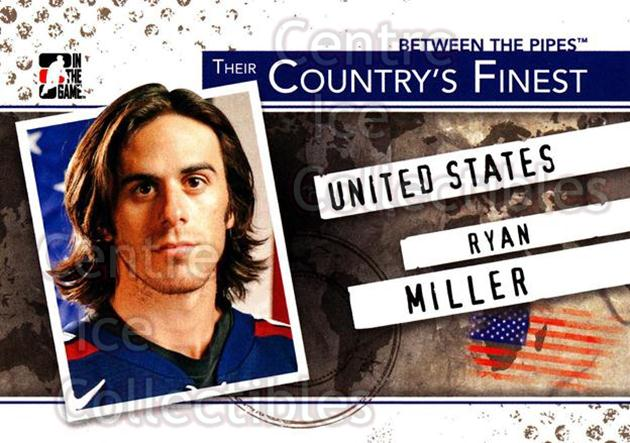 2010-11 Between The Pipes Their Countrys Finest #2 Ryan Miller<br/>3 In Stock - $3.00 each - <a href=https://centericecollectibles.foxycart.com/cart?name=2010-11%20Between%20The%20Pipes%20Their%20Countrys%20Finest%20%232%20Ryan%20Miller...&quantity_max=3&price=$3.00&code=586338 class=foxycart> Buy it now! </a>