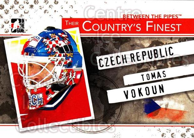2010-11 Between The Pipes Their Countrys Finest #6 Tomas Vokoun<br/>3 In Stock - $3.00 each - <a href=https://centericecollectibles.foxycart.com/cart?name=2010-11%20Between%20The%20Pipes%20Their%20Countrys%20Finest%20%236%20Tomas%20Vokoun...&quantity_max=3&price=$3.00&code=586342 class=foxycart> Buy it now! </a>