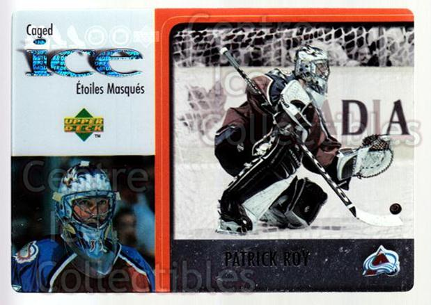 1997-98 McDonald's Upper Deck #23 Patrick Roy<br/>2 In Stock - $3.00 each - <a href=https://centericecollectibles.foxycart.com/cart?name=1997-98%20McDonald's%20Upper%20Deck%20%2323%20Patrick%20Roy...&price=$3.00&code=58642 class=foxycart> Buy it now! </a>