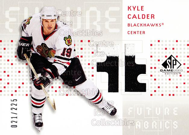 2002-03 SP Game Used Future Fabrics #FFCA Kyle Calder<br/>1 In Stock - $5.00 each - <a href=https://centericecollectibles.foxycart.com/cart?name=2002-03%20SP%20Game%20Used%20Future%20Fabrics%20%23FFCA%20Kyle%20Calder...&quantity_max=1&price=$5.00&code=586584 class=foxycart> Buy it now! </a>