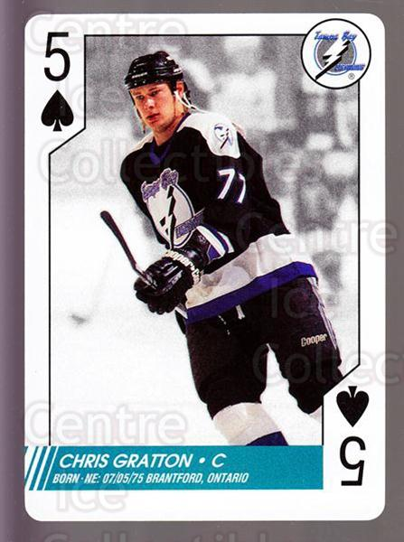 1997-98 NHL Aces Playing Card #18 Chris Gratton<br/>7 In Stock - $2.00 each - <a href=https://centericecollectibles.foxycart.com/cart?name=1997-98%20NHL%20Aces%20Playing%20Card%20%2318%20Chris%20Gratton...&quantity_max=7&price=$2.00&code=58674 class=foxycart> Buy it now! </a>