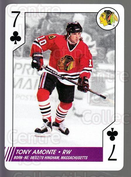 1997-98 NHL Aces Playing Card #33 Tony Amonte<br/>7 In Stock - $2.00 each - <a href=https://centericecollectibles.foxycart.com/cart?name=1997-98%20NHL%20Aces%20Playing%20Card%20%2333%20Tony%20Amonte...&quantity_max=7&price=$2.00&code=58690 class=foxycart> Buy it now! </a>