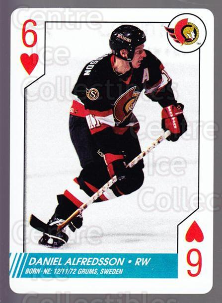 1997-98 NHL Aces Playing Card #6 Daniel Alfredsson<br/>5 In Stock - $2.00 each - <a href=https://centericecollectibles.foxycart.com/cart?name=1997-98%20NHL%20Aces%20Playing%20Card%20%236%20Daniel%20Alfredss...&quantity_max=5&price=$2.00&code=58708 class=foxycart> Buy it now! </a>