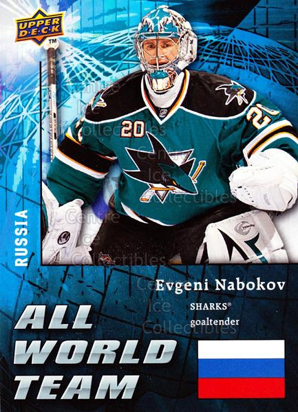 2009-10 Upper Deck All World Team #10 Evgeni Nabokov<br/>1 In Stock - $3.00 each - <a href=https://centericecollectibles.foxycart.com/cart?name=2009-10%20Upper%20Deck%20All%20World%20Team%20%2310%20Evgeni%20Nabokov...&quantity_max=1&price=$3.00&code=587336 class=foxycart> Buy it now! </a>