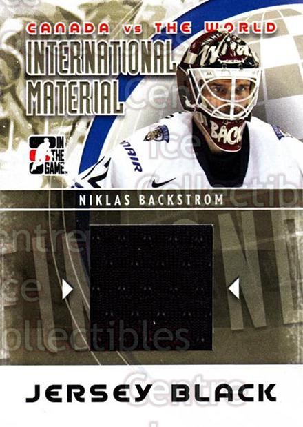 2011-12 ITG Canada vs The World International Materials Black #16 Niklas Backstrom<br/>1 In Stock - $5.00 each - <a href=https://centericecollectibles.foxycart.com/cart?name=2011-12%20ITG%20Canada%20vs%20The%20World%20International%20Materials%20Black%20%2316%20Niklas%20Backstro...&quantity_max=1&price=$5.00&code=587882 class=foxycart> Buy it now! </a>