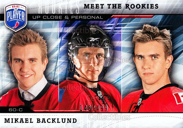 2009-10 Be A Player Meet the Rookies #5 Mikael Backlund<br/>1 In Stock - $5.00 each - <a href=https://centericecollectibles.foxycart.com/cart?name=2009-10%20Be%20A%20Player%20Meet%20the%20Rookies%20%235%20Mikael%20Backlund...&quantity_max=1&price=$5.00&code=588560 class=foxycart> Buy it now! </a>