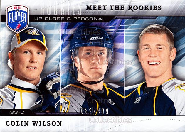 2009-10 Be A Player Meet the Rookies #7 Colin Wilson<br/>1 In Stock - $5.00 each - <a href=https://centericecollectibles.foxycart.com/cart?name=2009-10%20Be%20A%20Player%20Meet%20the%20Rookies%20%237%20Colin%20Wilson...&quantity_max=1&price=$5.00&code=588562 class=foxycart> Buy it now! </a>