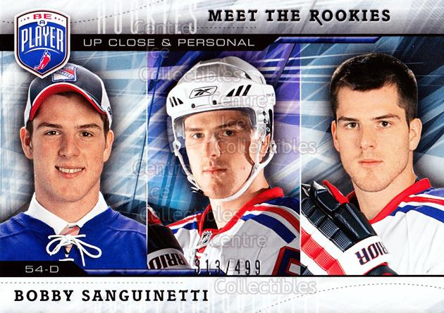 2009-10 Be A Player Meet the Rookies #9 Bobby Sanguinetti<br/>1 In Stock - $5.00 each - <a href=https://centericecollectibles.foxycart.com/cart?name=2009-10%20Be%20A%20Player%20Meet%20the%20Rookies%20%239%20Bobby%20Sanguinet...&quantity_max=1&price=$5.00&code=588564 class=foxycart> Buy it now! </a>