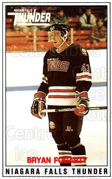 1988-89 Niagara Falls Thunder #14 Bryan Fogarty<br/>1 In Stock - $5.00 each - <a href=https://centericecollectibles.foxycart.com/cart?name=1988-89%20Niagara%20Falls%20Thunder%20%2314%20Bryan%20Fogarty...&quantity_max=1&price=$5.00&code=588648 class=foxycart> Buy it now! </a>