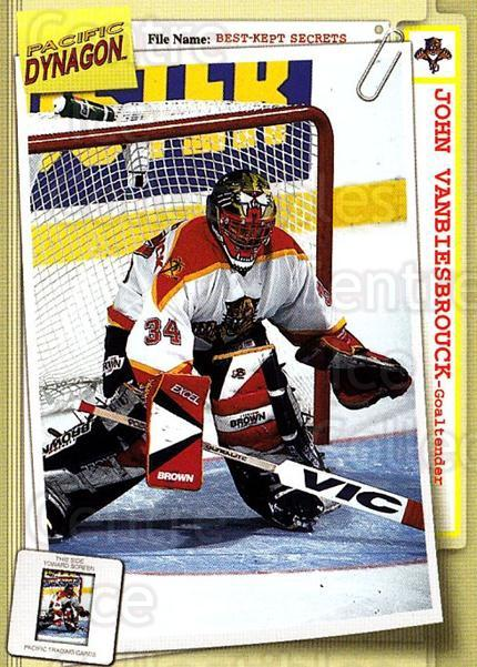 1997-98 Dynagon Best Kept Secrets #43 John Vanbiesbrouck<br/>4 In Stock - $1.00 each - <a href=https://centericecollectibles.foxycart.com/cart?name=1997-98%20Dynagon%20Best%20Kept%20Secrets%20%2343%20John%20Vanbiesbro...&quantity_max=4&price=$1.00&code=58910 class=foxycart> Buy it now! </a>