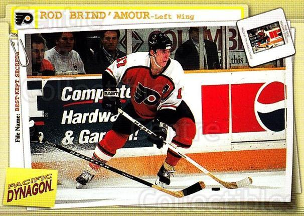 1997-98 Dynagon Best Kept Secrets #68 Rod Brind'Amour<br/>5 In Stock - $1.00 each - <a href=https://centericecollectibles.foxycart.com/cart?name=1997-98%20Dynagon%20Best%20Kept%20Secrets%20%2368%20Rod%20Brind'Amour...&quantity_max=5&price=$1.00&code=58934 class=foxycart> Buy it now! </a>