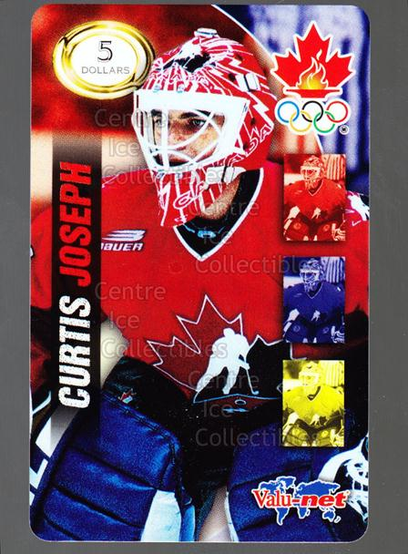 1998 Team Canada Olympic Valu-Net Phone Cards #11 Curtis Joseph<br/>1 In Stock - $5.00 each - <a href=https://centericecollectibles.foxycart.com/cart?name=1998%20Team%20Canada%20Olympic%20Valu-Net%20Phone%20Cards%20%2311%20Curtis%20Joseph...&quantity_max=1&price=$5.00&code=589735 class=foxycart> Buy it now! </a>