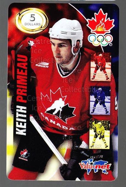 1998 Team Canada Olympic Valu-Net Phone Cards #17 Keith Primeau<br/>5 In Stock - $5.00 each - <a href=https://centericecollectibles.foxycart.com/cart?name=1998%20Team%20Canada%20Olympic%20Valu-Net%20Phone%20Cards%20%2317%20Keith%20Primeau...&quantity_max=5&price=$5.00&code=589741 class=foxycart> Buy it now! </a>