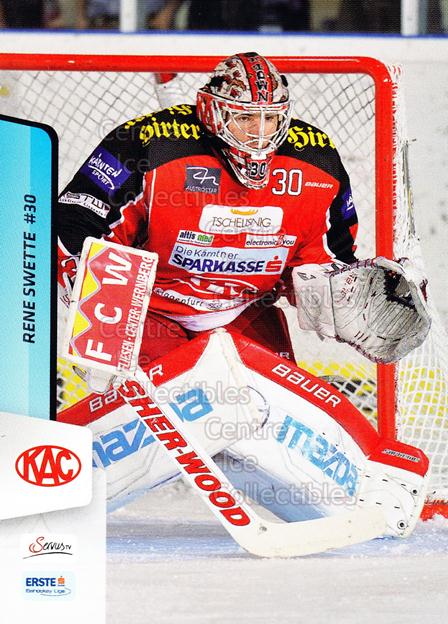 2013-14 Erste Bank Eishockey Liga EBEL #1 Rene Swette<br/>5 In Stock - $2.00 each - <a href=https://centericecollectibles.foxycart.com/cart?name=2013-14%20Erste%20Bank%20Eishockey%20Liga%20EBEL%20%231%20Rene%20Swette...&quantity_max=5&price=$2.00&code=590568 class=foxycart> Buy it now! </a>