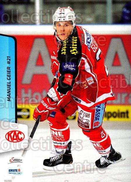 2013-14 Erste Bank Eishockey Liga EBEL #9 Manuel Geier<br/>5 In Stock - $2.00 each - <a href=https://centericecollectibles.foxycart.com/cart?name=2013-14%20Erste%20Bank%20Eishockey%20Liga%20EBEL%20%239%20Manuel%20Geier...&quantity_max=5&price=$2.00&code=590576 class=foxycart> Buy it now! </a>