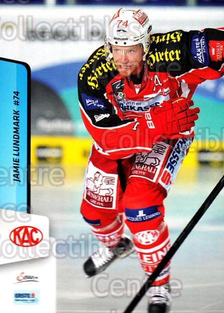 2013-14 Erste Bank Eishockey Liga EBEL #12 Jamie Lundmark<br/>2 In Stock - $2.00 each - <a href=https://centericecollectibles.foxycart.com/cart?name=2013-14%20Erste%20Bank%20Eishockey%20Liga%20EBEL%20%2312%20Jamie%20Lundmark...&quantity_max=2&price=$2.00&code=590579 class=foxycart> Buy it now! </a>