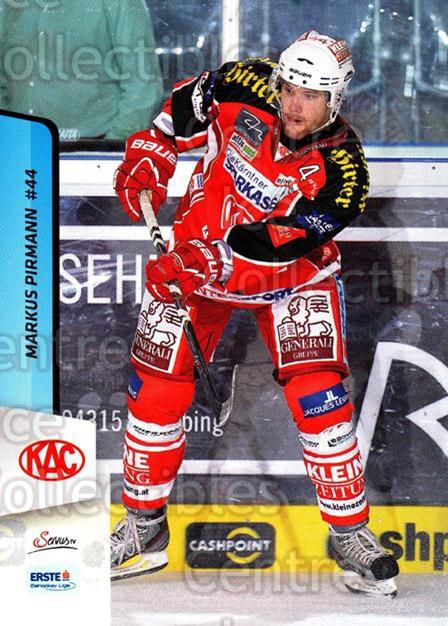 2013-14 Erste Bank Eishockey Liga EBEL #13 Markus Pirmann<br/>5 In Stock - $2.00 each - <a href=https://centericecollectibles.foxycart.com/cart?name=2013-14%20Erste%20Bank%20Eishockey%20Liga%20EBEL%20%2313%20Markus%20Pirmann...&quantity_max=5&price=$2.00&code=590580 class=foxycart> Buy it now! </a>