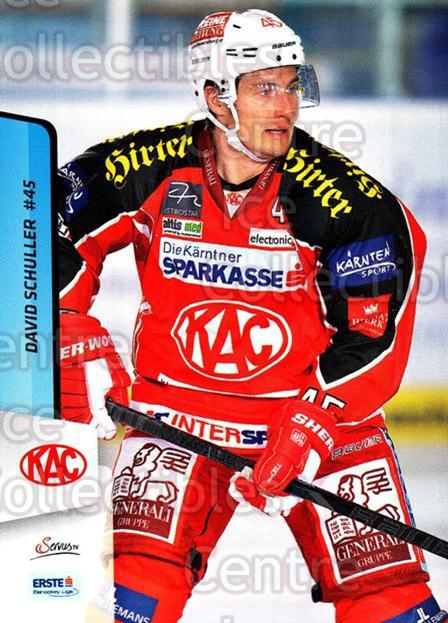 2013-14 Erste Bank Eishockey Liga EBEL #15 David Schuller<br/>5 In Stock - $2.00 each - <a href=https://centericecollectibles.foxycart.com/cart?name=2013-14%20Erste%20Bank%20Eishockey%20Liga%20EBEL%20%2315%20David%20Schuller...&quantity_max=5&price=$2.00&code=590582 class=foxycart> Buy it now! </a>